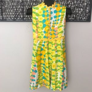 1960 Mod Dress Couture Designer Yvelaine Paris